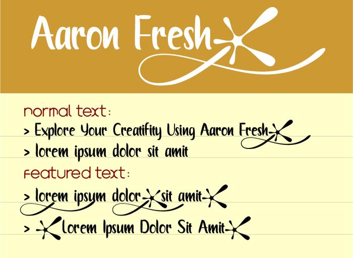 Aaron Fresh Font poster