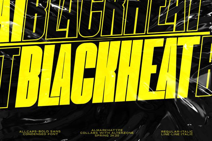Blackheat Font poster