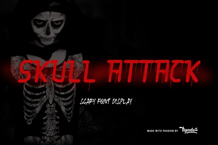 Skull Attack Font poster