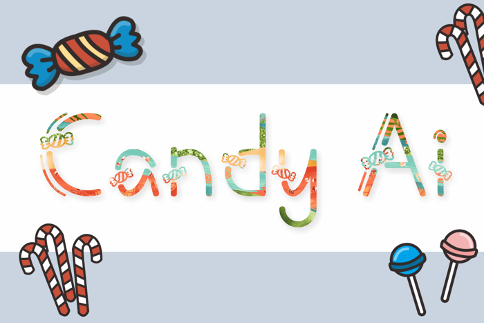 Candy Ai Font poster