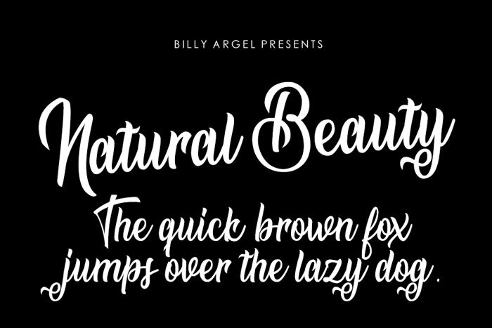 Natural Beauty Font poster