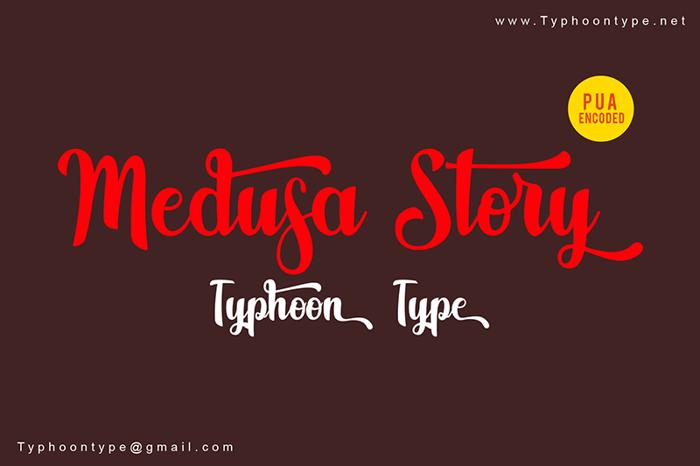 Medusa Story Font poster