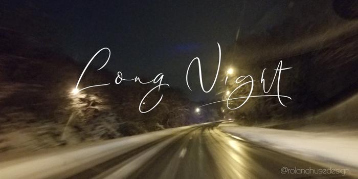 Long Night Demo Font poster