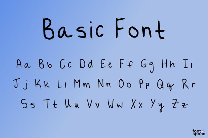 Basic Font poster