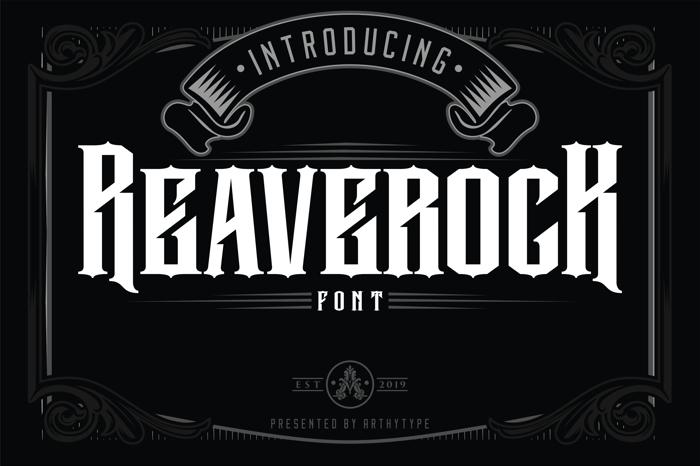 Reaverock (Free) Font poster