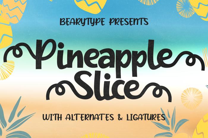 Pineapple Slice Font poster