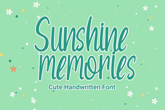 Sunshine Memories Font poster