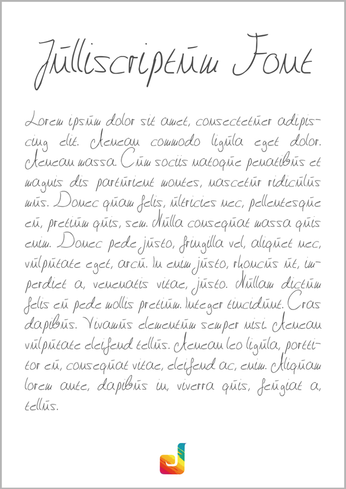 Julliscriptum Font poster
