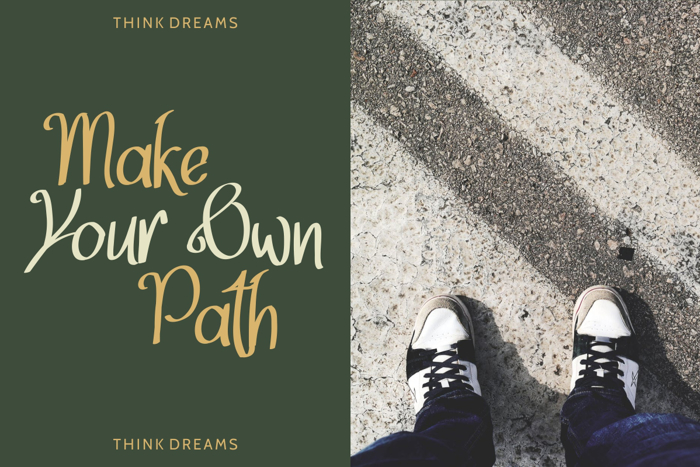 Think Dreams Font poster