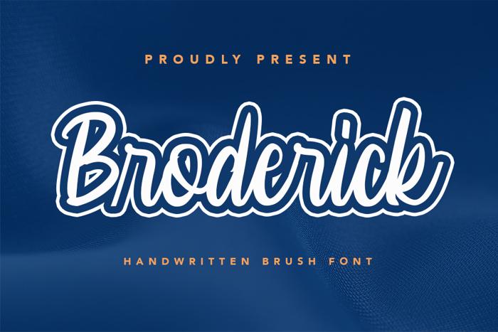 Broderick Font poster