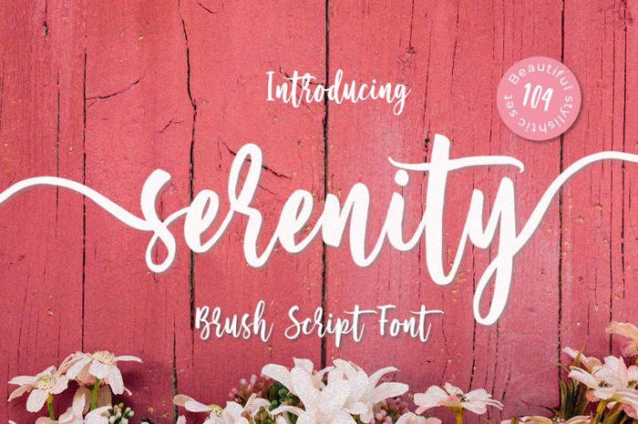 Serenity Font poster