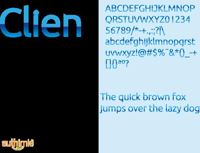 BDP Clien Font poster