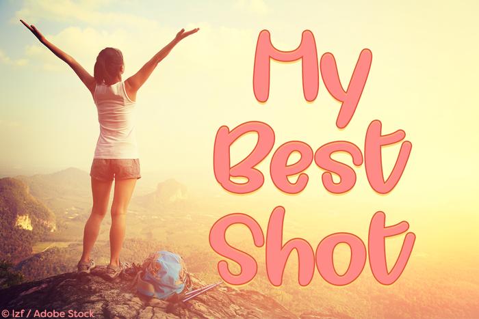 My Best Shot Font poster