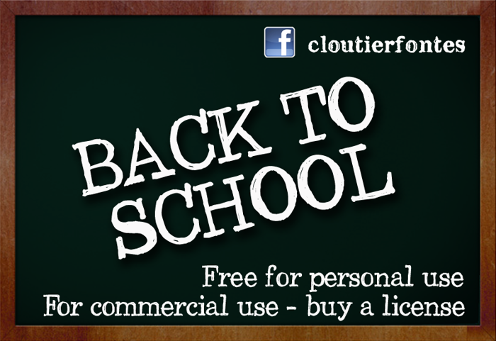 CF Back to School Font poster