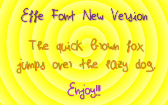 Effe New Version Font poster
