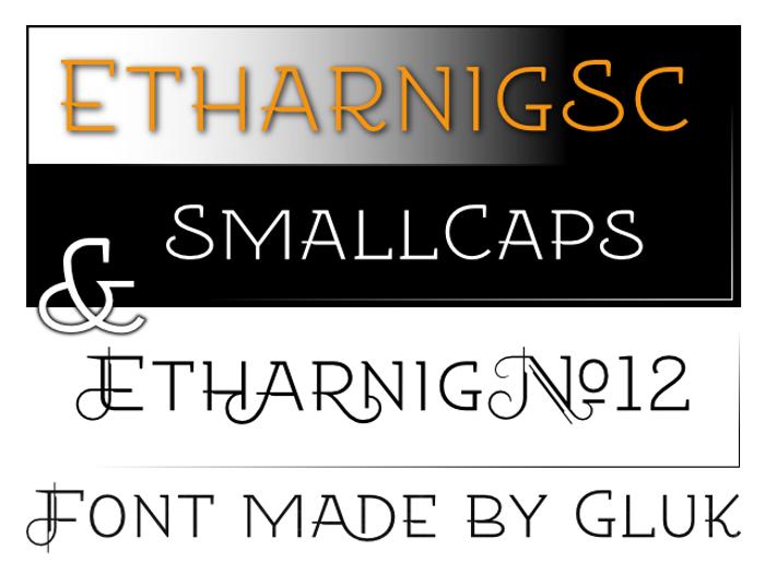 Etharnig Font poster