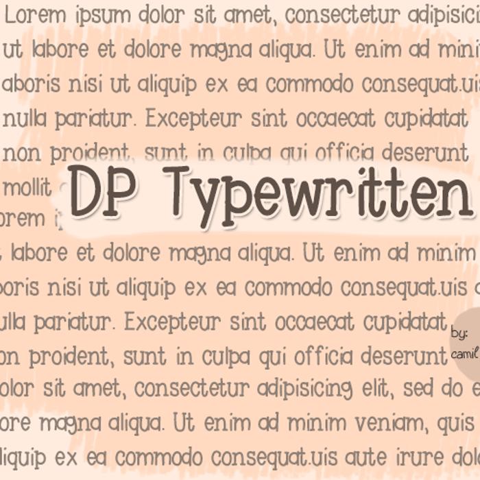 DPTypewritten Font poster