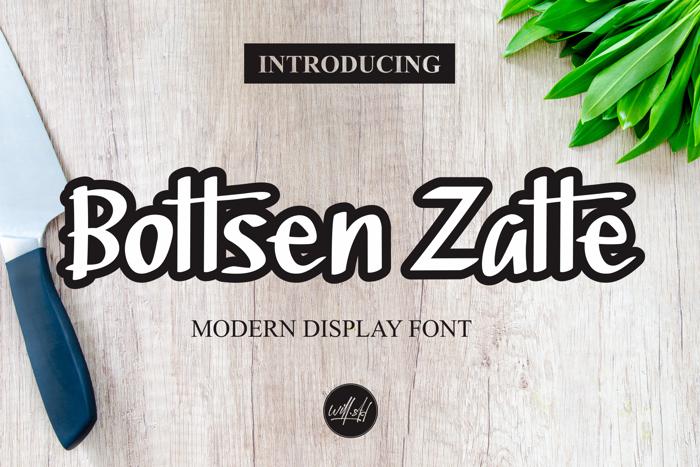 Bottsen Zatte Font poster