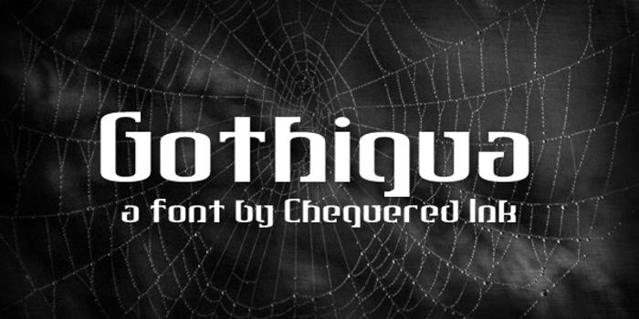 Gothiqua Font poster