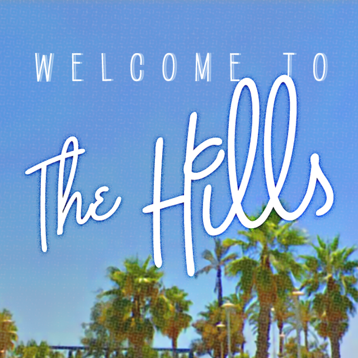 The Hills Font poster