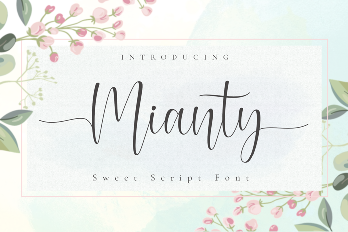 Mianty Font poster