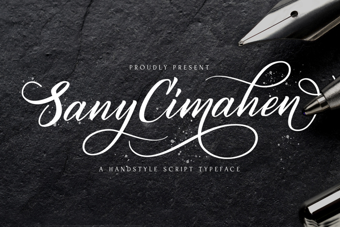 Sany Cimahen Font poster