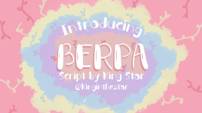 Berpa Font poster