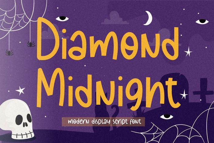 Diamond Midnight Font poster
