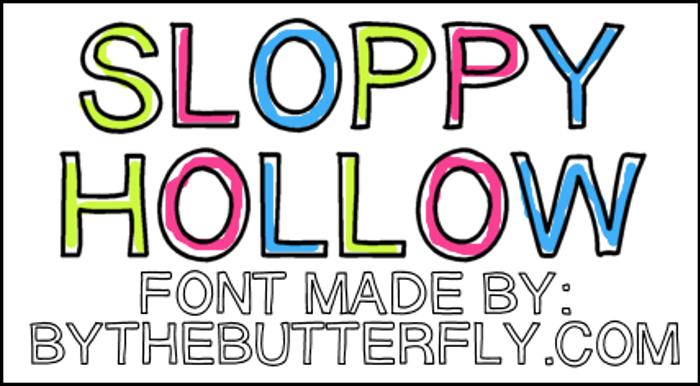 SloppyHollow Font poster