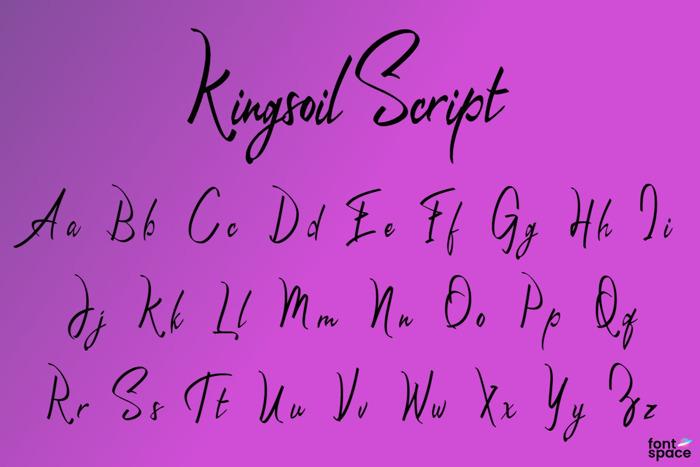 Kingsoil Script Font poster