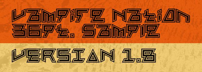 Vampire Nation Font poster
