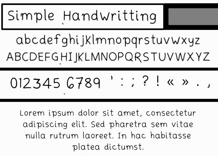 Simplehandwritting Font poster
