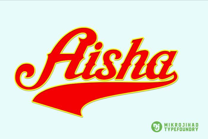 Aisha Script Font poster