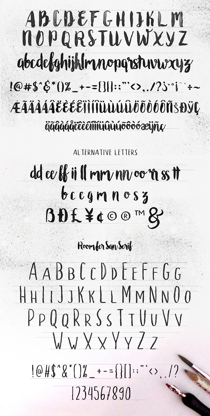 Roomfer Font poster