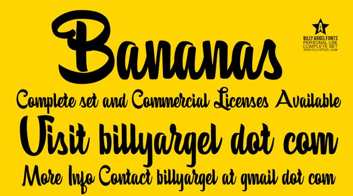 Bananas Font poster