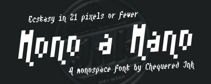 Mono a Mano Font poster