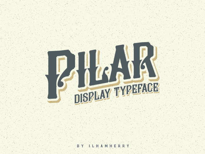Pilar Typeface Font poster