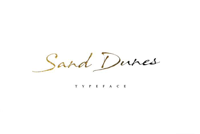 Sand Dunes Font poster