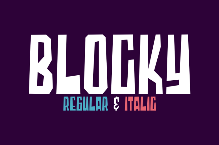Blocky Font poster