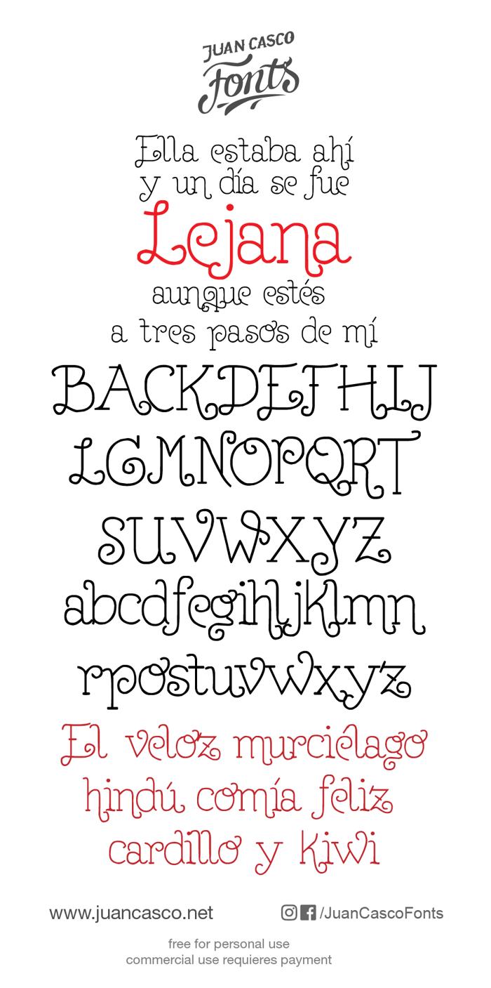 Lejana Font poster