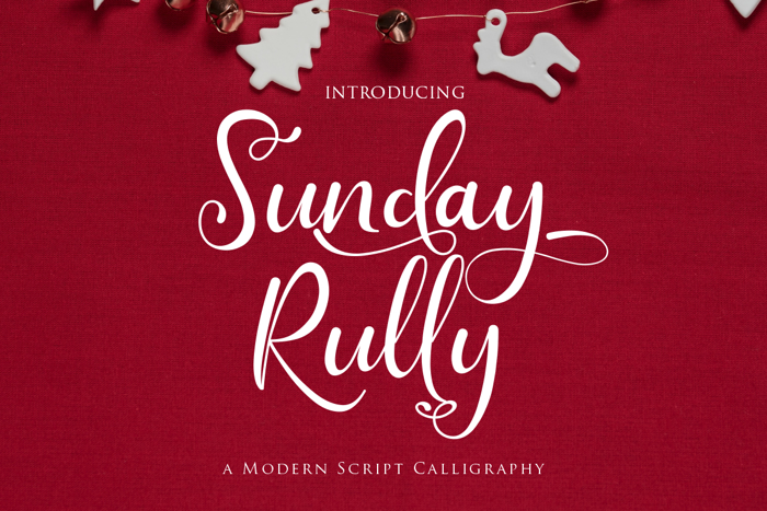 Sunday Rully Font poster