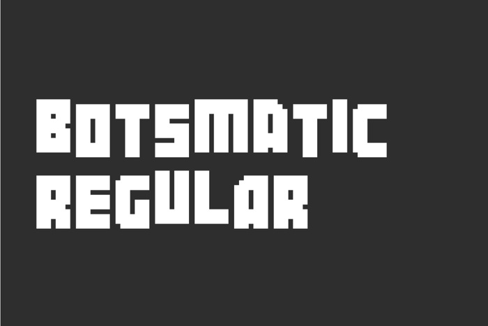 Botsmatic Font poster