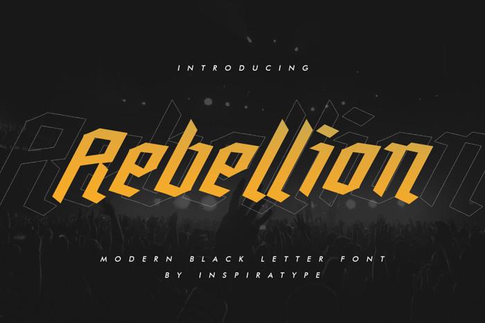Rebellion Font poster