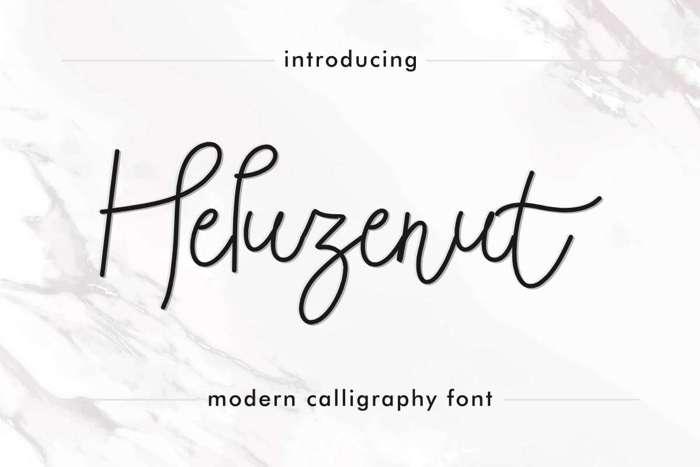 Heluzenut Font poster