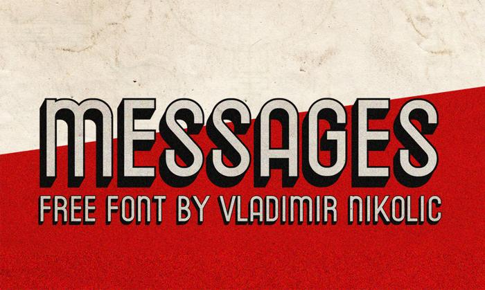 Messages Font poster