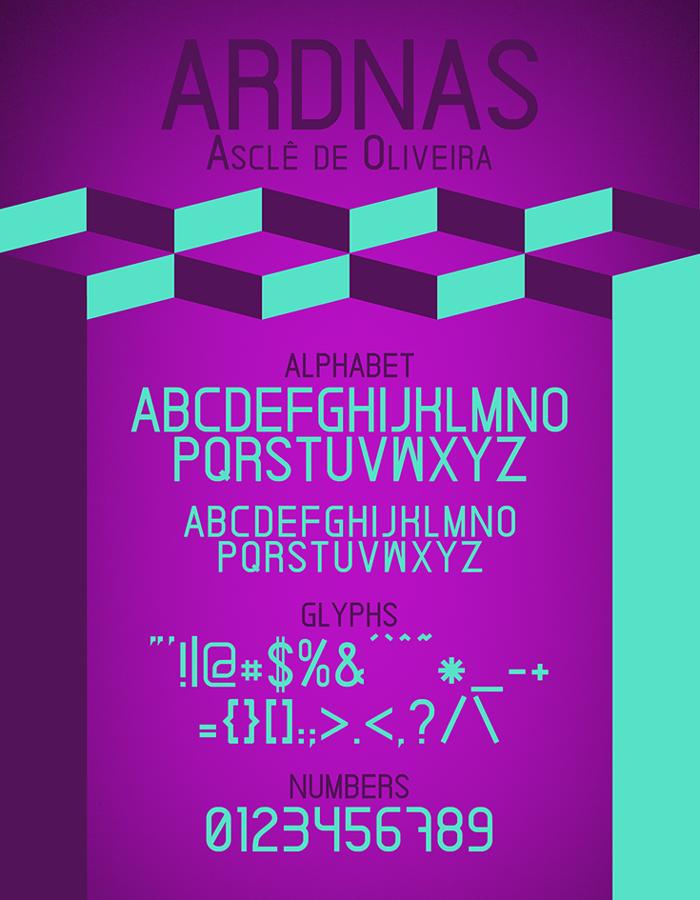 Ardnas Font poster