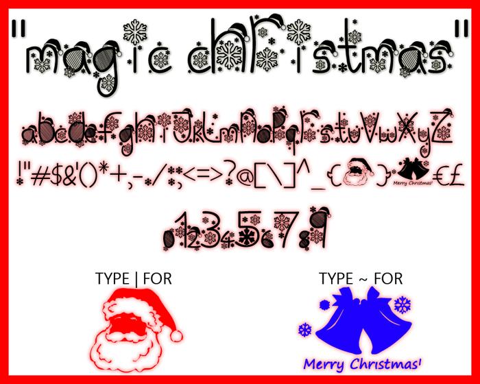 Magic Christmas Font poster