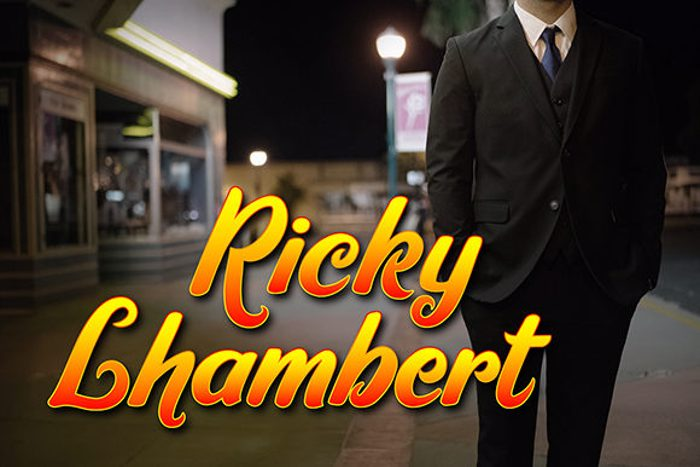 Ricky Lhambert Font poster