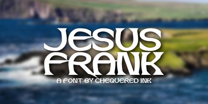Jesus Frank Font poster