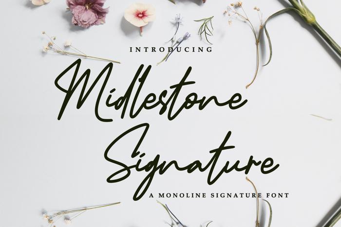 Midlestone Signature Font poster